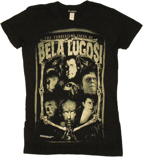Bela Lugosi Faces Baby Tee