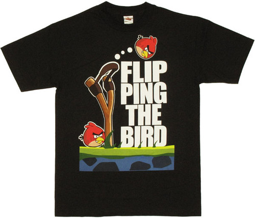 Angry Birds Flipping T Shirt