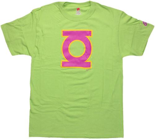 Green Lantern Neon Logo T Shirt