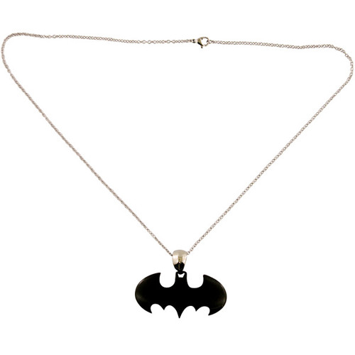 Batman Necklace, Stainless Steel Batman Emblem at StylinOnline