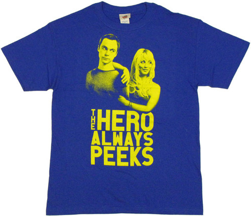 Big Bang Theory Hero Peeks T Shirt