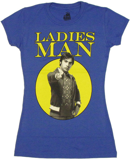 Big Bang Theory Ladies Man Baby Tee