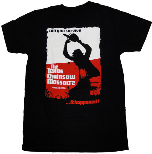 Texas Chainsaw Massacre Uncensored T Shirt Sheer