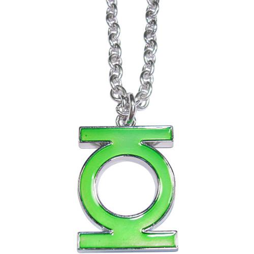 Green Lantern Enamel Fill Necklace