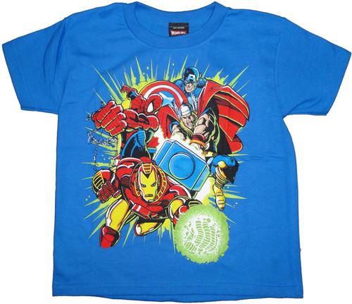 Marvel Team Juvenile T Shirt