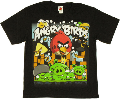 Angry Birds Attack Youth T Shirt