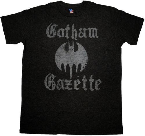 Batman Gotham Gazette T Shirt Sheer