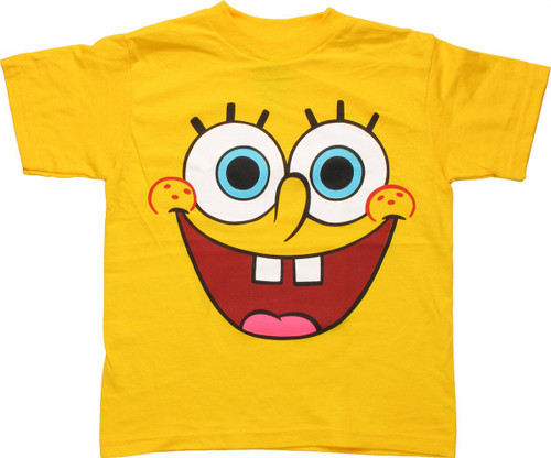 Spongebob Squarepants Face Juvenile T Shirt