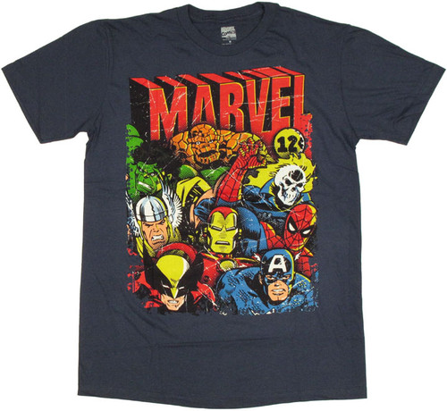 Marvel Squad T Shirt Sheer