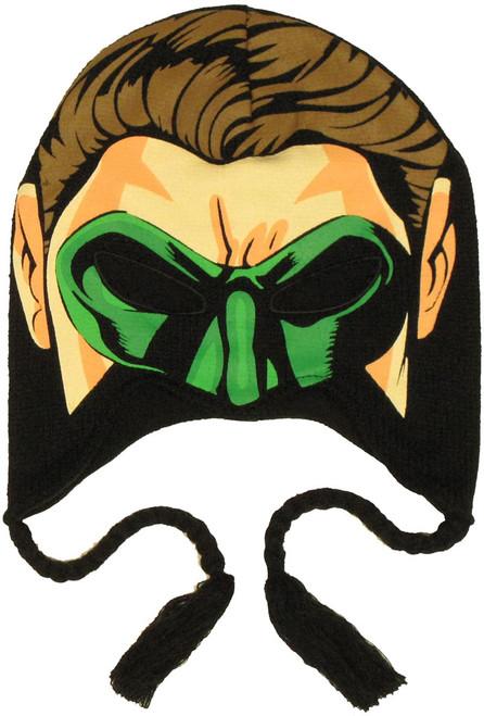 Green Lantern Face Lapland Beanie