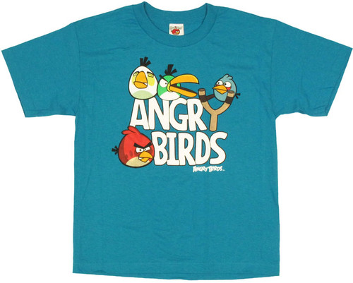 Angry Birds Slingshot Youth T Shirt