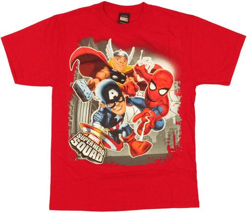 Marvel Hero Squad Trio Youth T Shirt