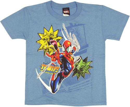 Spiderman Thwip Juvenile T Shirt