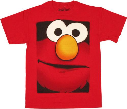 Sesame Street Elmo Boxed Head T Shirt