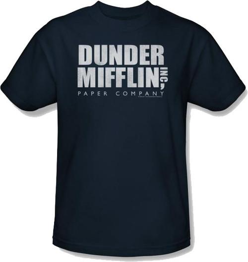 Office Dunder Navy T Shirt