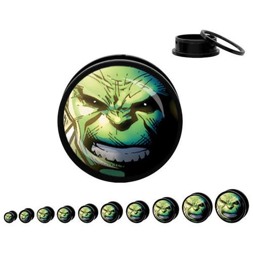 Incredible Hulk Acrylic Plugs