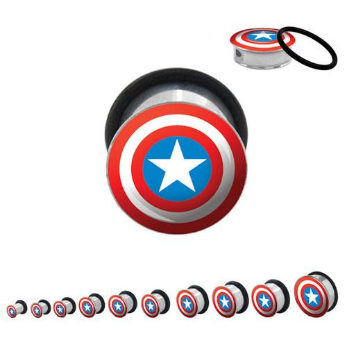 Captain America Steel Plugs