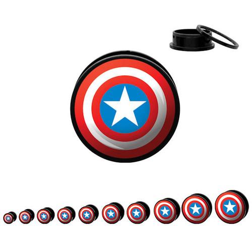 Captain America Acrylic Plugs