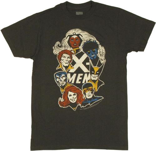 X Men Faces T Shirt Sheer
