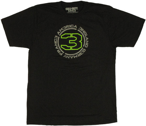 Modern Warfare 3 Countries T Shirt Sheer