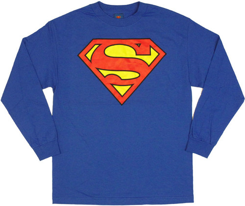 Superman Long Sleeve T Shirt