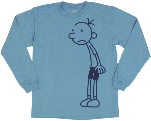 Diary of a Wimpy Kid Greg Full Blue Long Sleeve Youth T Shirt