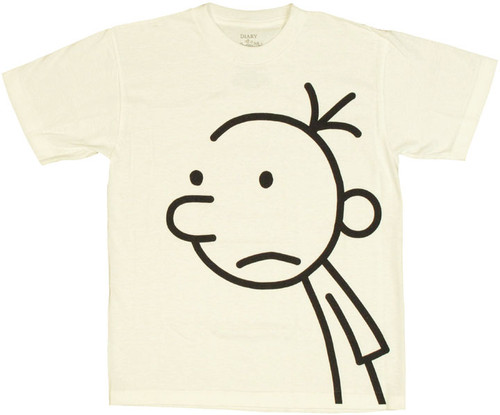 70c2c42ad Diary of a Wimpy Kid Greg White Youth T Shirt youth-t-shirt-diary-of-a-wimpy -kid-greg-head-white