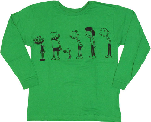 Diary of a Wimpy Kid Line Green Long Sleeve Youth T Shirt