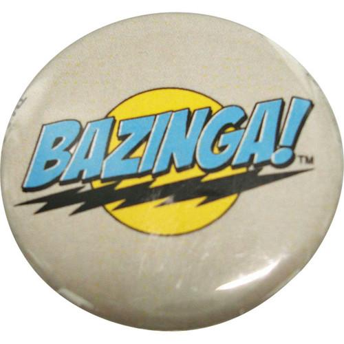 Big Bang Theory Bazinga Gray Button