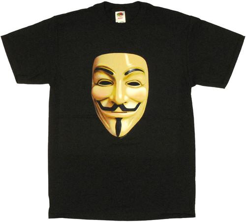 V for Vendetta Mask T Shirt