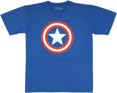Captain America Logo Shield T Shirt