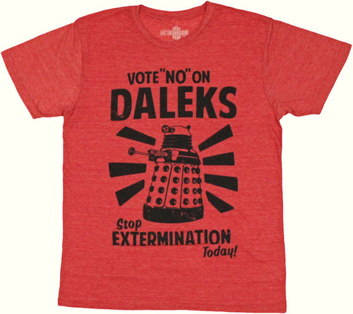 Doctor Who Vote No T Shirt Sheer