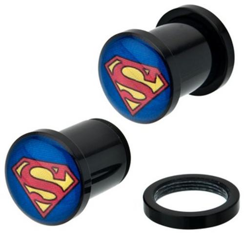 Superman Acrylic Plugs