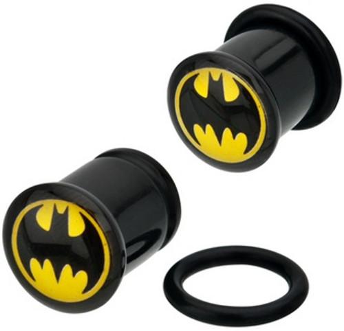 Batman Round Logo Acrylic Plugs