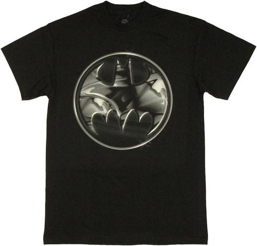 best service ec393 206bf Batman Logo Coin T Shirt t-shirt-batman-chrome-coin-logo