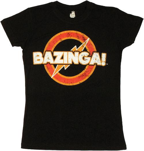 Big Bang Theory Vintage Bazinga Baby Tee