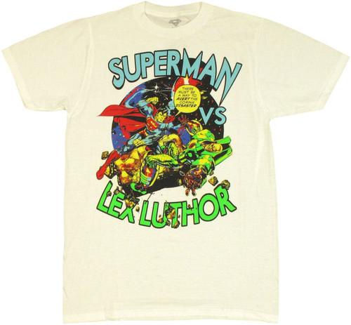 Superman vs Lex Luthor T Shirt Sheer