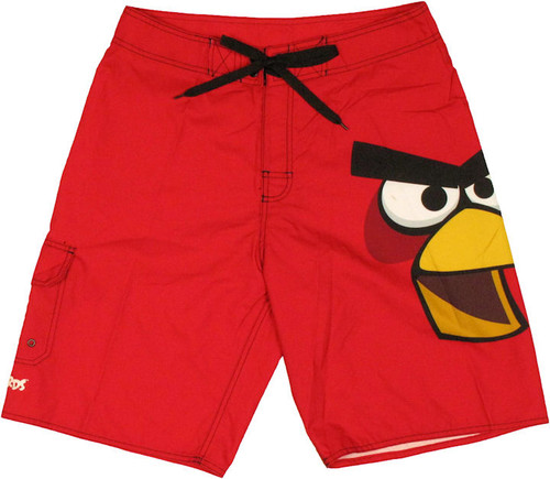 Angry Birds Red Face Shorts