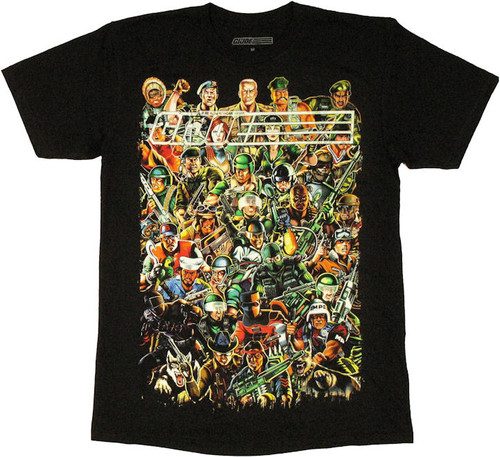 GI Joe Collage T Shirt Sheer