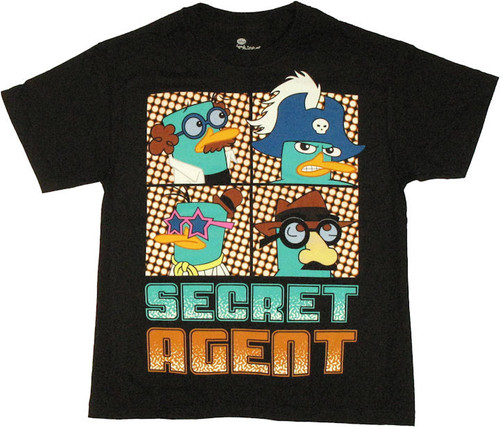 Phineas and Ferb Secret Agent UV Youth T Shirt