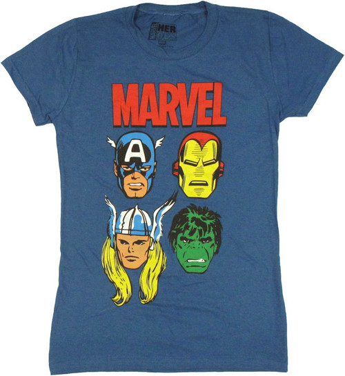 Avengers Four Faces Baby Tee