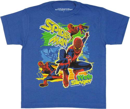 Amazing Spiderman Web Slinger Juvenile T Shirt