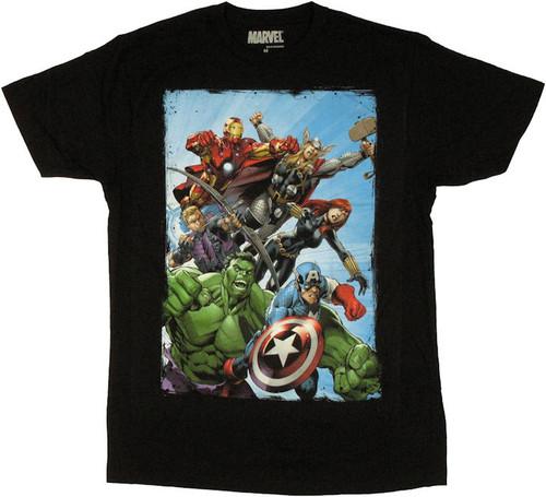 Avengers Assembled Rush T Shirt Sheer