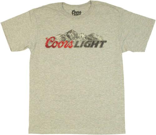 Coors Light Mountain T Shirt Sheer