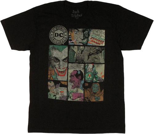 DC Comics Villain Panels T Shirt Sheer