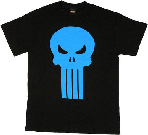 Punisher Blue Skull T Shirt