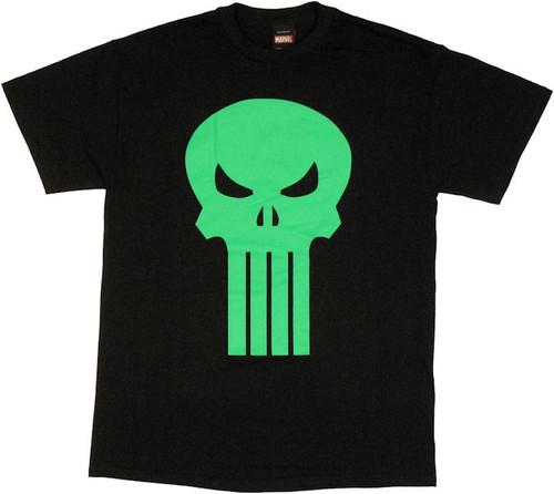 Punisher Green Skull T Shirt