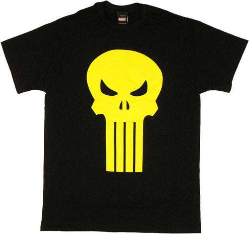 Punisher Yellow Skull T Shirt