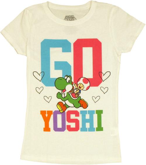 Yoshi Go Youth Girls T Shirt