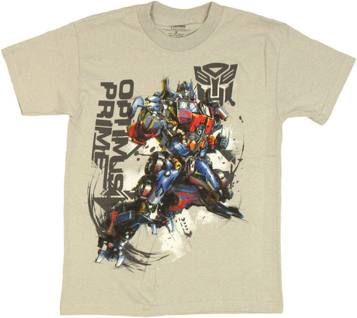 Transformers Optimus Graphic Leap Youth T Shirt